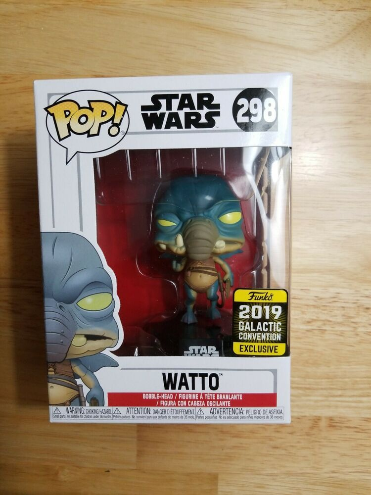 Details About Funko Pop Star Wars 298 Galactic Convention Exclusive Watto Will Double Box Funko Galactic Funko Pop Star Wars