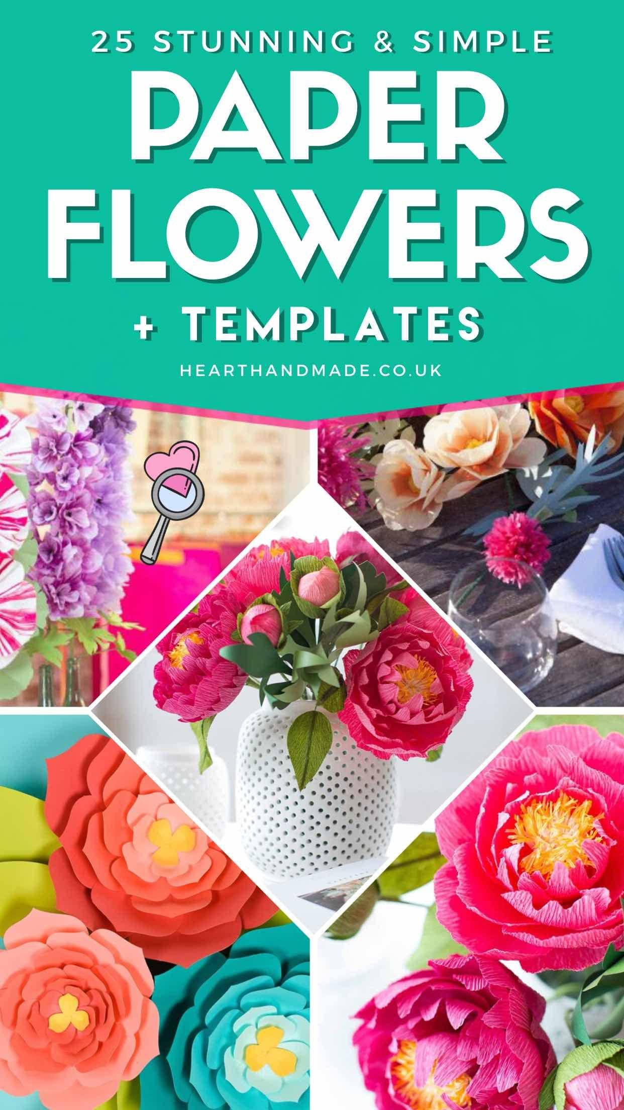 25 Excellent Easy Paper Flower Tutorials Directory Construction