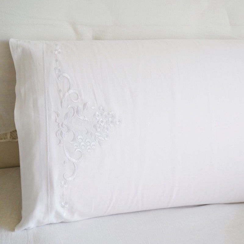 Weiss Kissenbezug Baumwolle Bett Bestickt Kissen Slip 100
