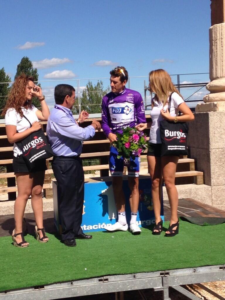 Nuevo líder de la @VueltaABurgos el francés @anthonyroux18 de la @EquipeFDJ .