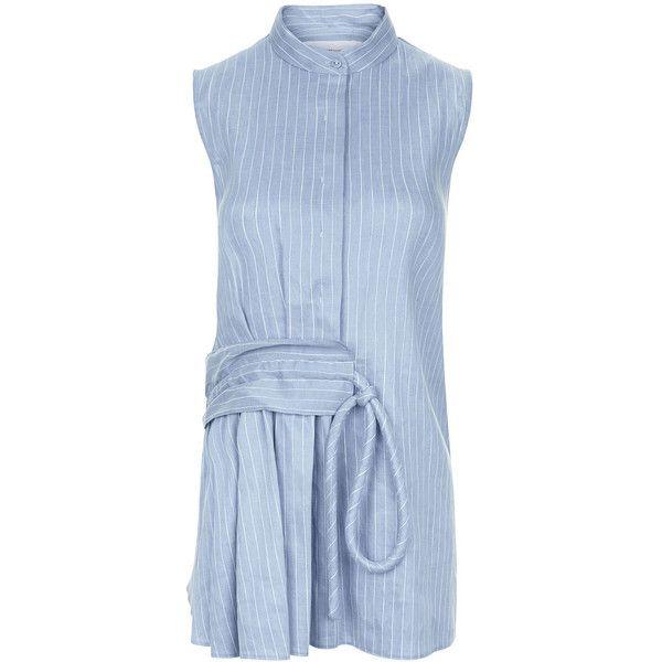striped buttoned dress - Blue Victoria Beckham kewDPRHPz7