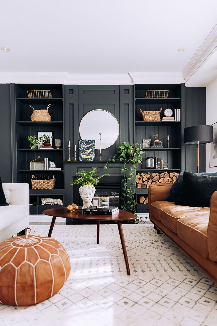 49 Adorable Black Living Room Ideas That Looks Cool - CLUEDECOR
