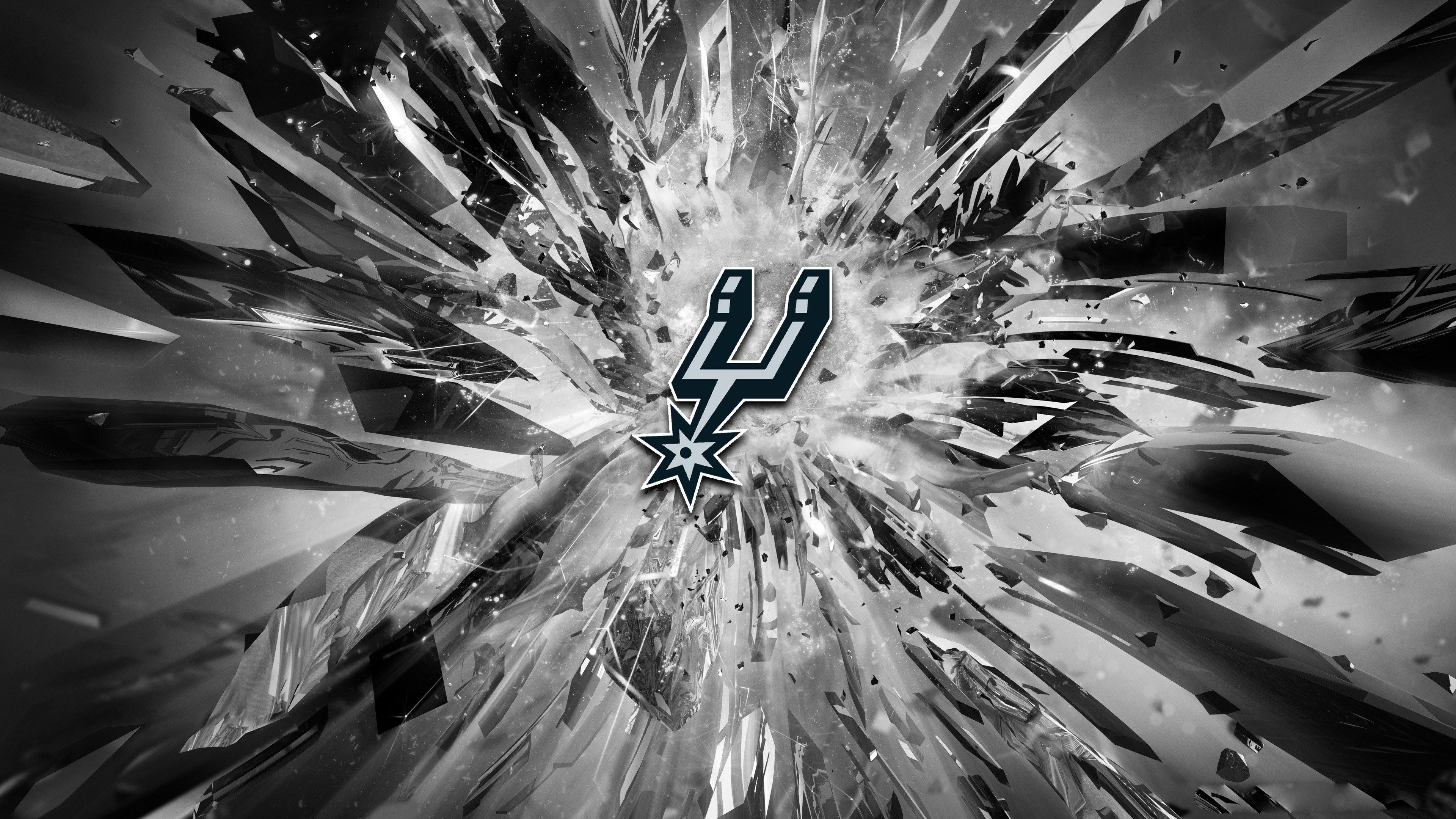 San Antonio Spurs 2015 Logo 4k Wallpaper Golden State Warriors Wallpaper Golden State Warriors Logo Warriors Wallpaper
