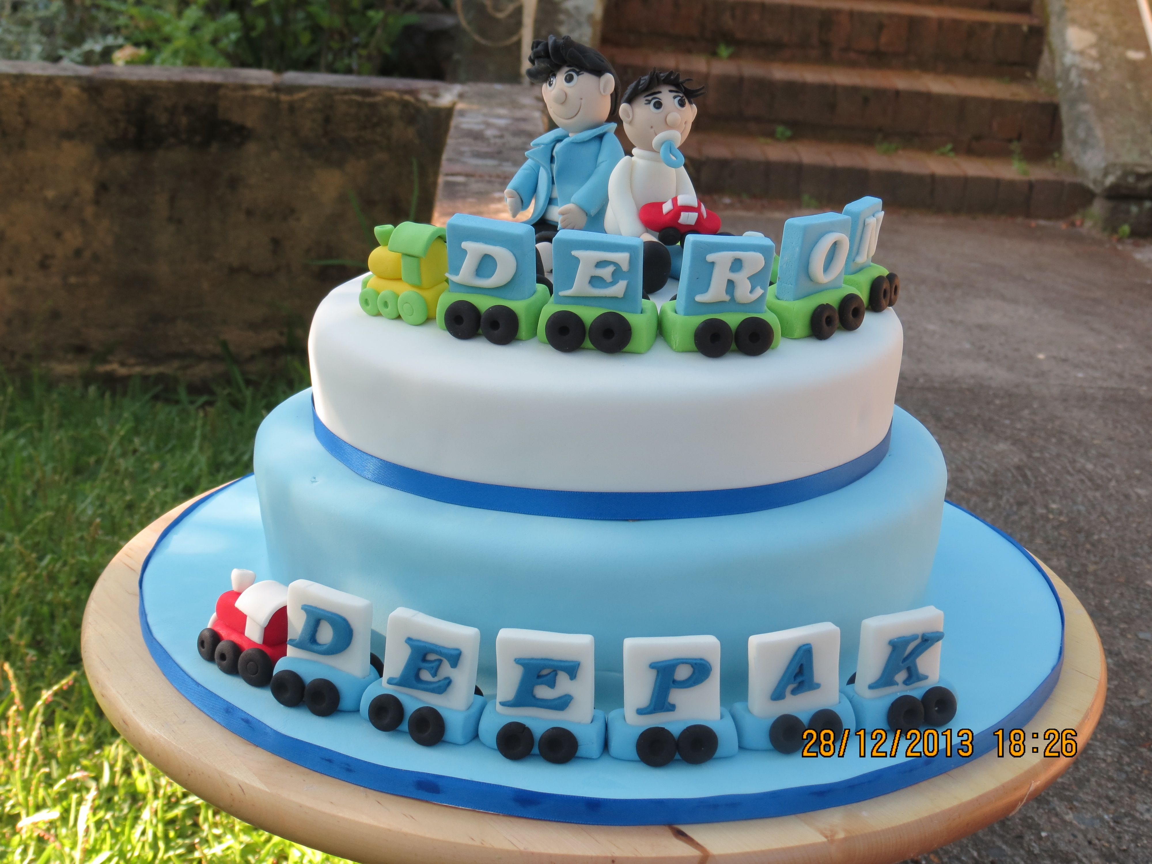 Magnificent Birthday Cake For Dad Deepak And Son Deron With Images Funny Birthday Cards Online Elaedamsfinfo