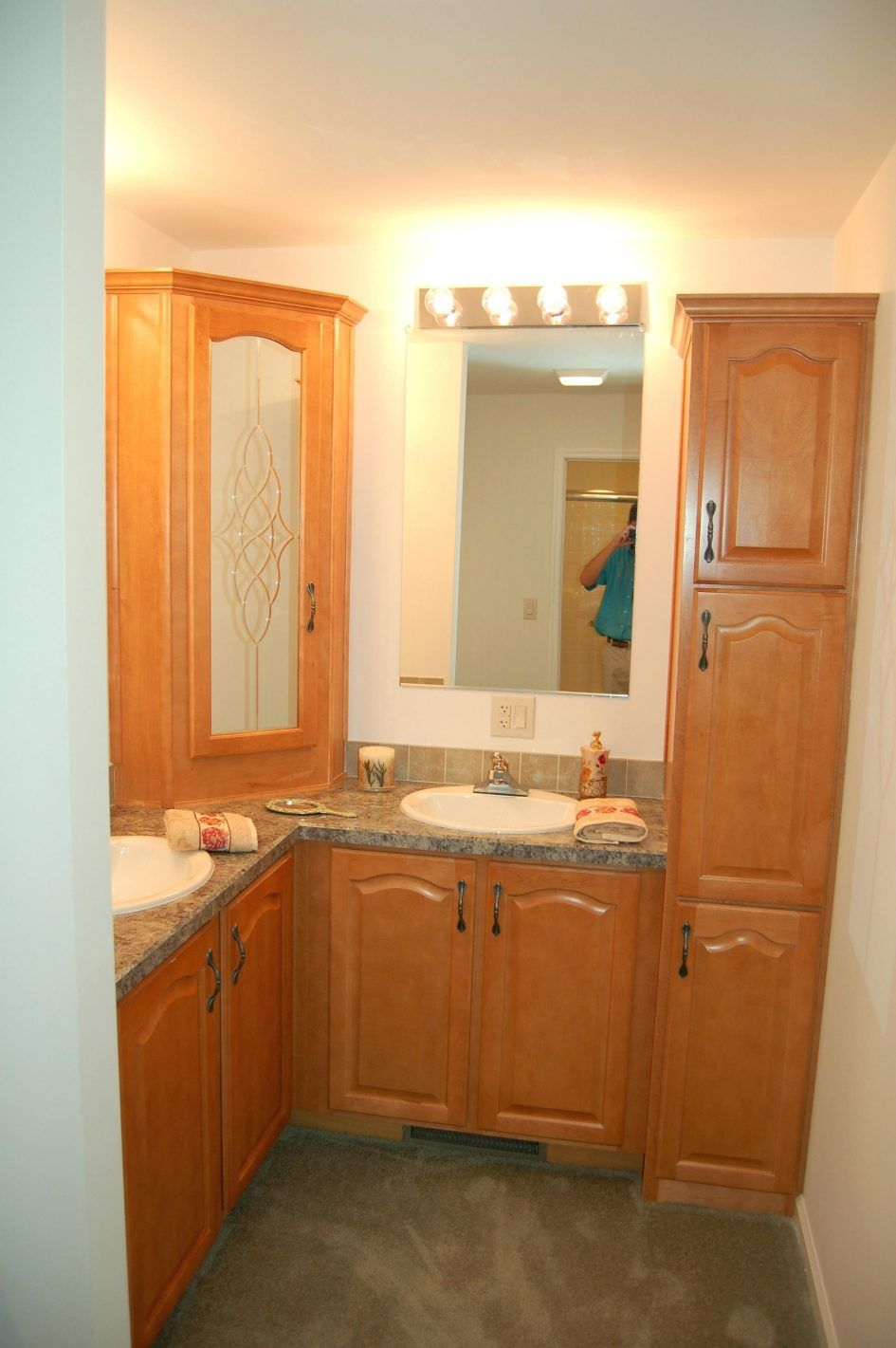 bathroom bathroom linen cabinets with wall lamp and mirror also rh pinterest co uk