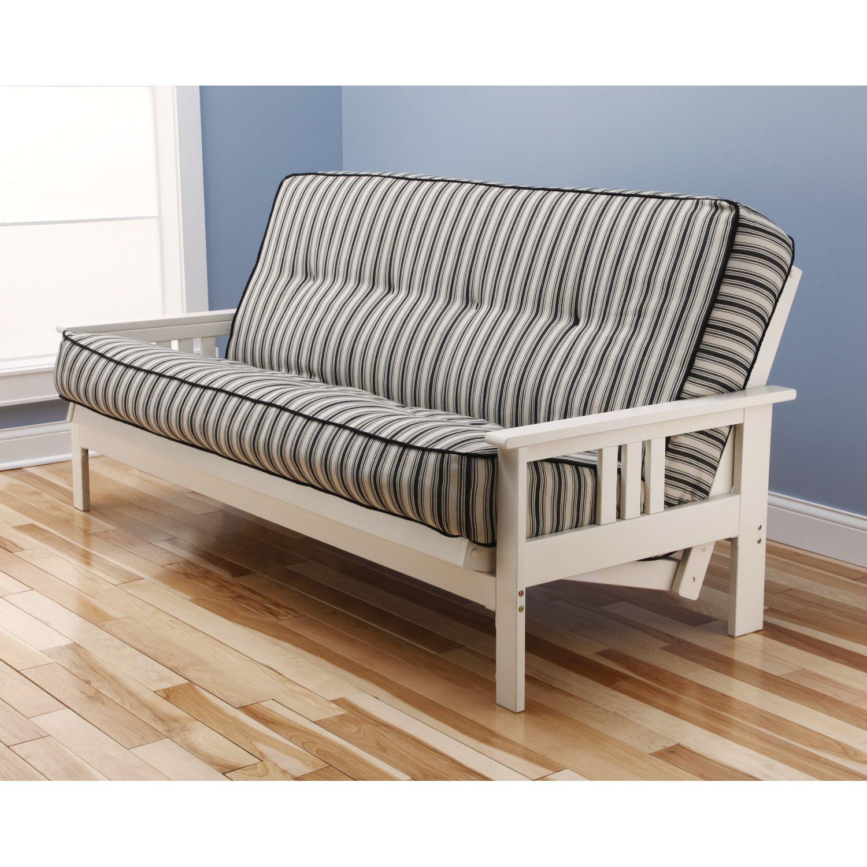 Antique White Futon White futon, Futon frame, Wood futon