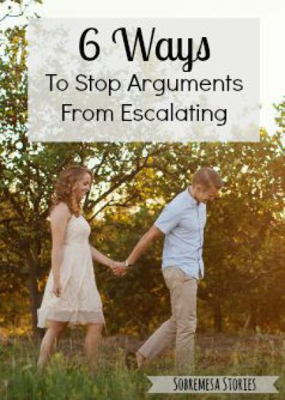 Six Ways To Stop Arguments From Escalating | Marriage Advice