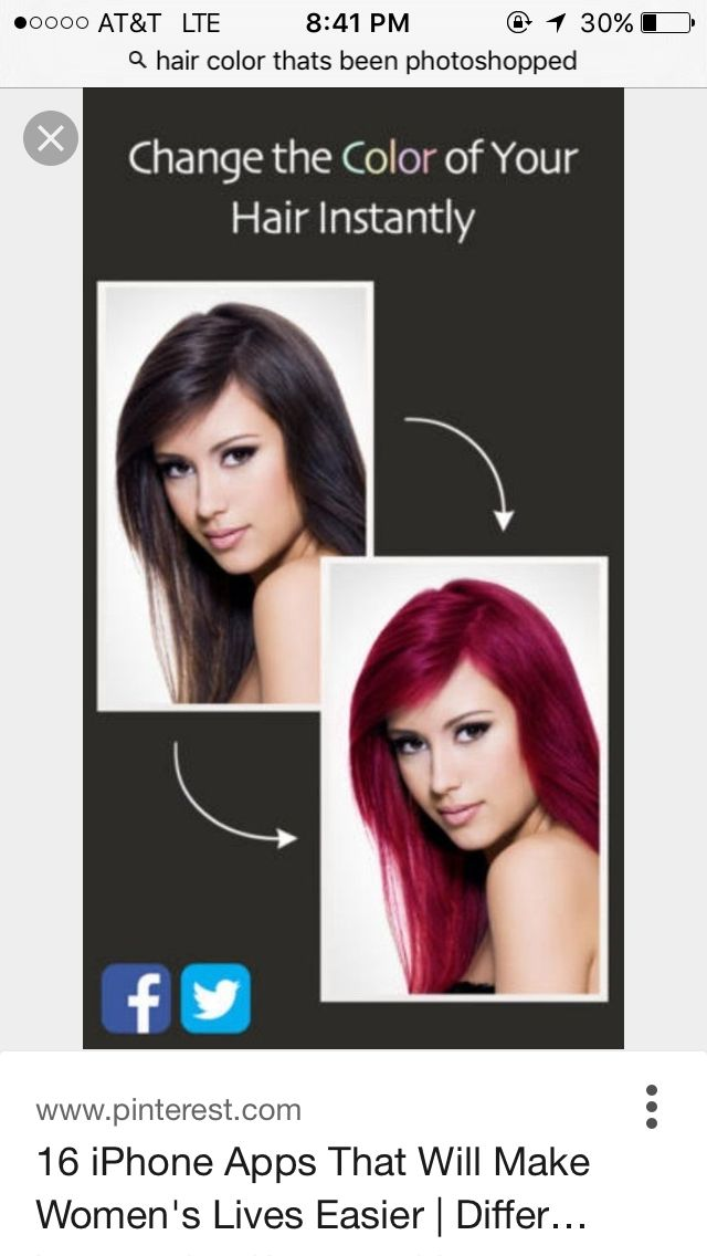 Pin By Erika Gripe On What I Deal With Change Hair Color Different Hair Colors Hair Colour App