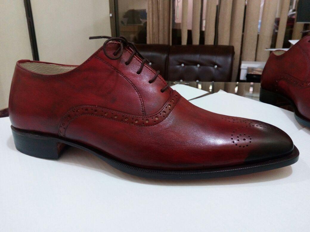 Handmade Men Burgundy Color Formal Leather Shoes Men Dress Shoes Shoes For Men Dress Formal Dress Shoes Men Dress Shoes Leather Formal Shoes