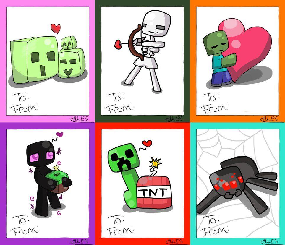 Minecraft Valentine Cards By Endeauchem Art Journal Valentines