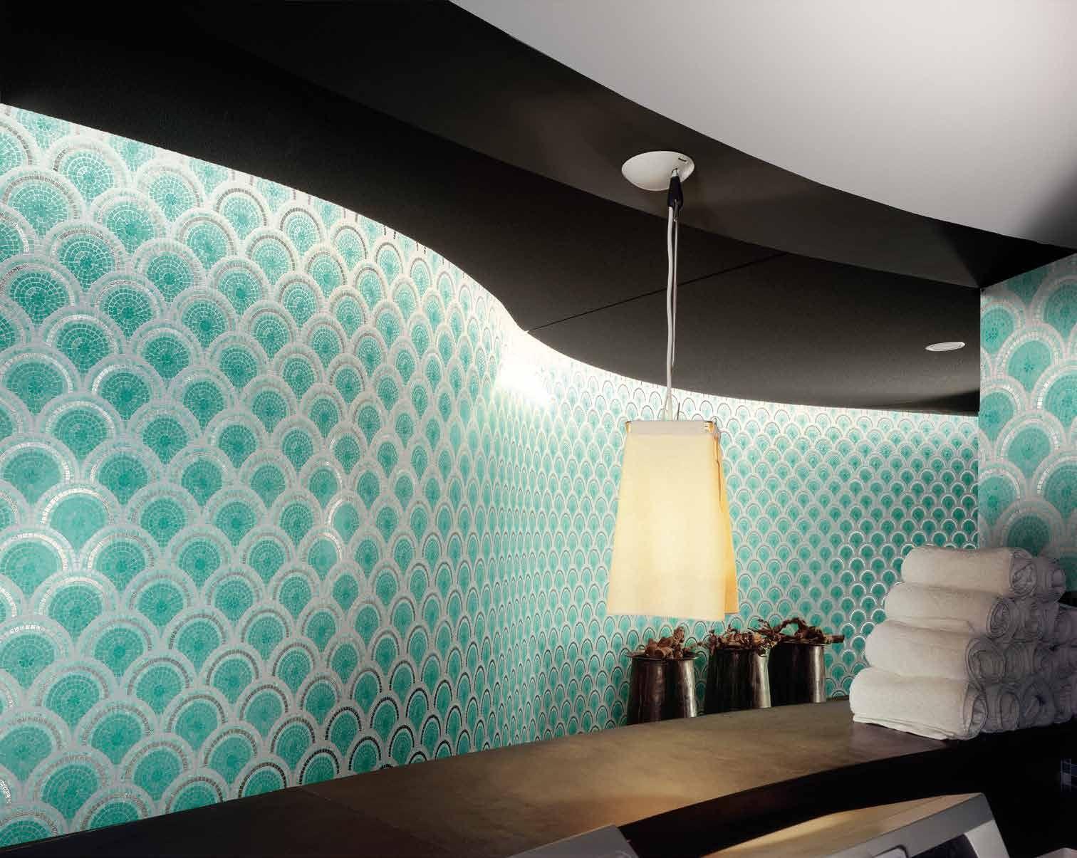 Bisazza #decori in #tecnica artistica 10x10 loop green #gres su