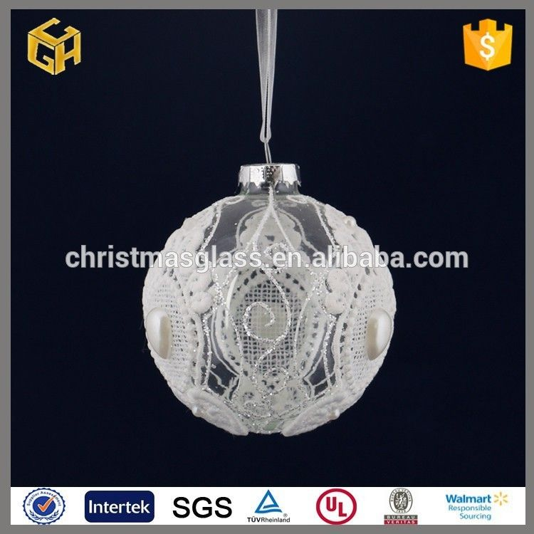 Wholesale Handmade Clear Christmas Glass Ball Stick Lace Ornament Photo,  Detailed about Wholesale Handmade Clear - Wholesale Handmade Clear Christmas Glass Ball Stick Lace Ornament