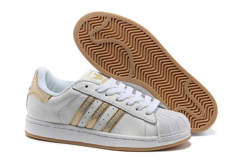adidas superstar blancas gold