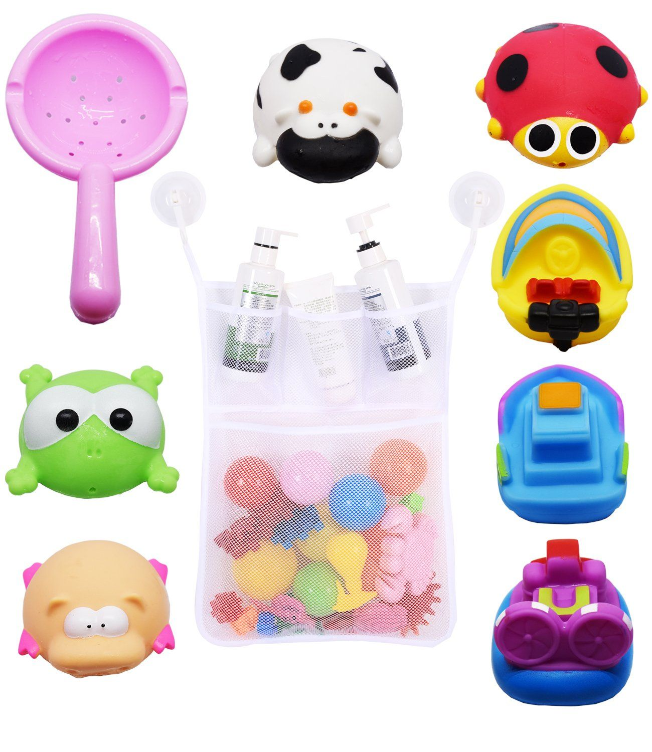 Bath Toy Squirt, Bathtime Fun Baby Bathtub Toys Set for Toddlers 4 ...