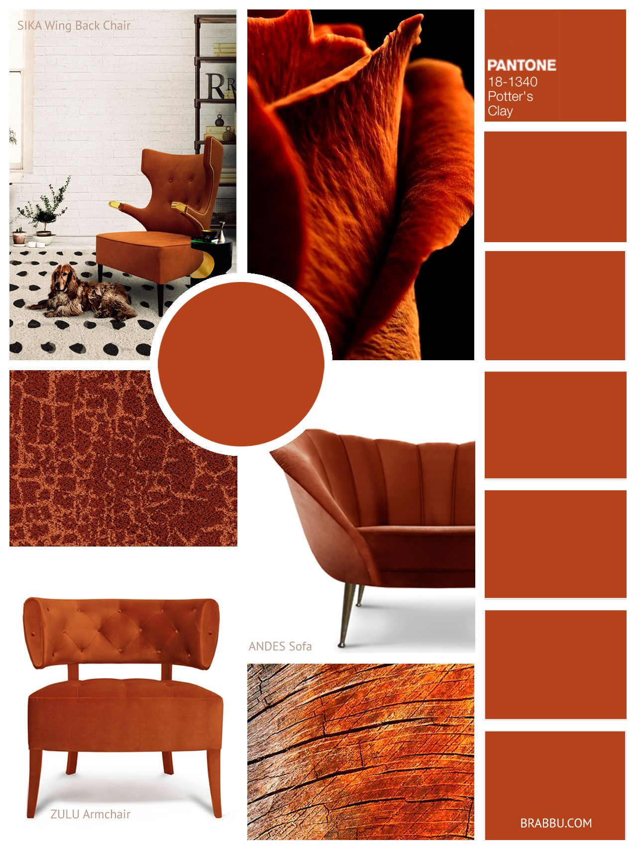 Colour trends for next season by brabbu potters clay - 2017 pantone view home interiors palettes ...
