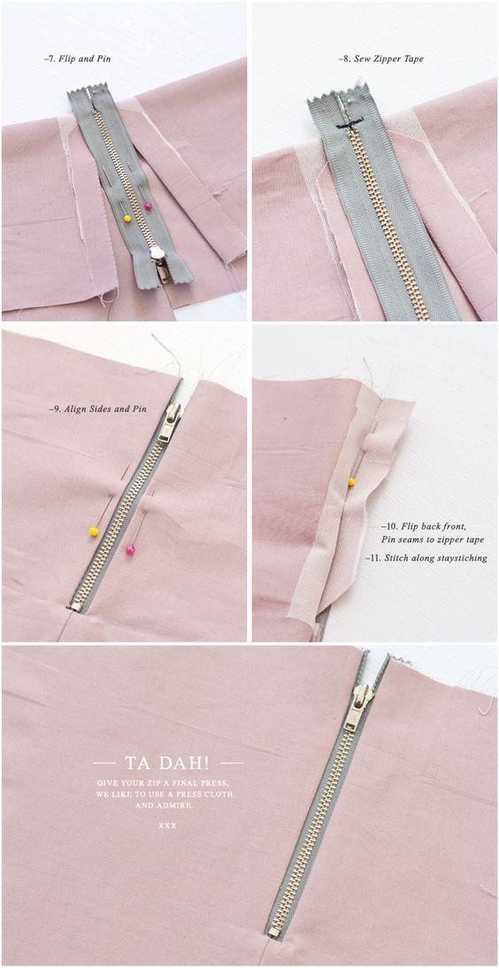 Tips on how to: Nähen Sie einen sichtbaren Reißverschluss (mit einer Naht)
