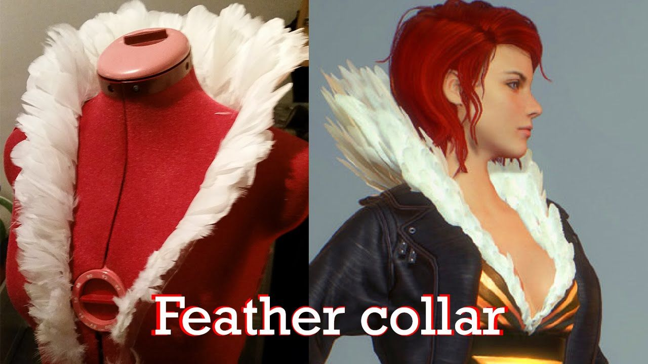 Red feather collar timelaps (Transistor cosplay)