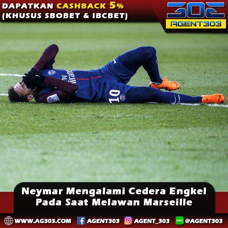 Neymar mengalami cedera engkel pada saat melawan Marseille