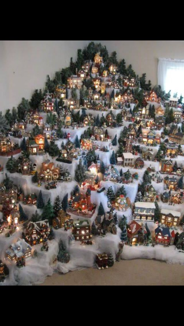 Pin By Emma Vawter On Christmas: Christmas Village Display