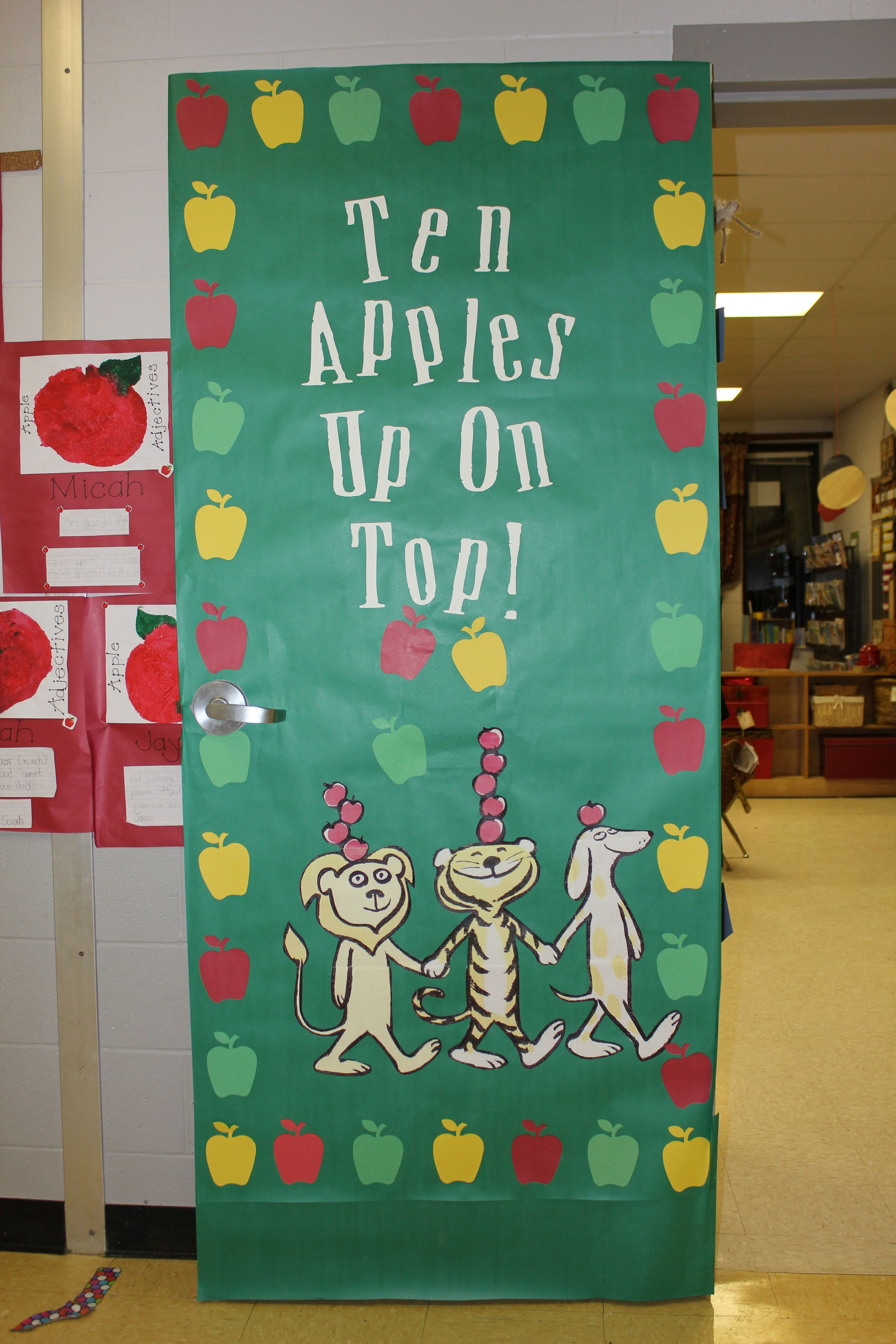 Ten Apples Up On Top! Classroom Door Cover | Apples ...