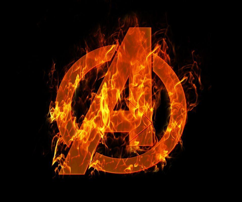 Nice Avengers Symbol Hd Avengers Logo Aflame Photo By Kookalouris