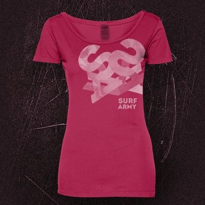 """Surf Army """"logo structure"""" t-shirt for woman"""