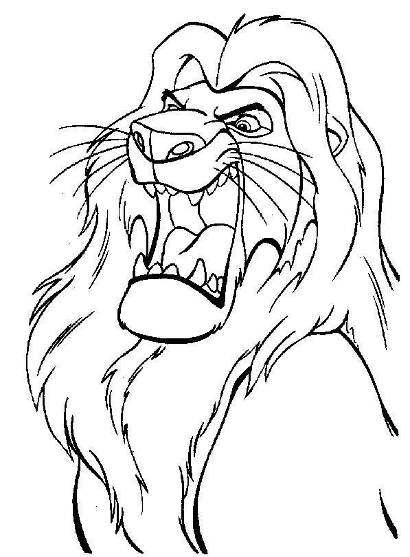 rey-leon-para-colorear-pintar-imprimir.jpg (597×810) | gra | Pinterest