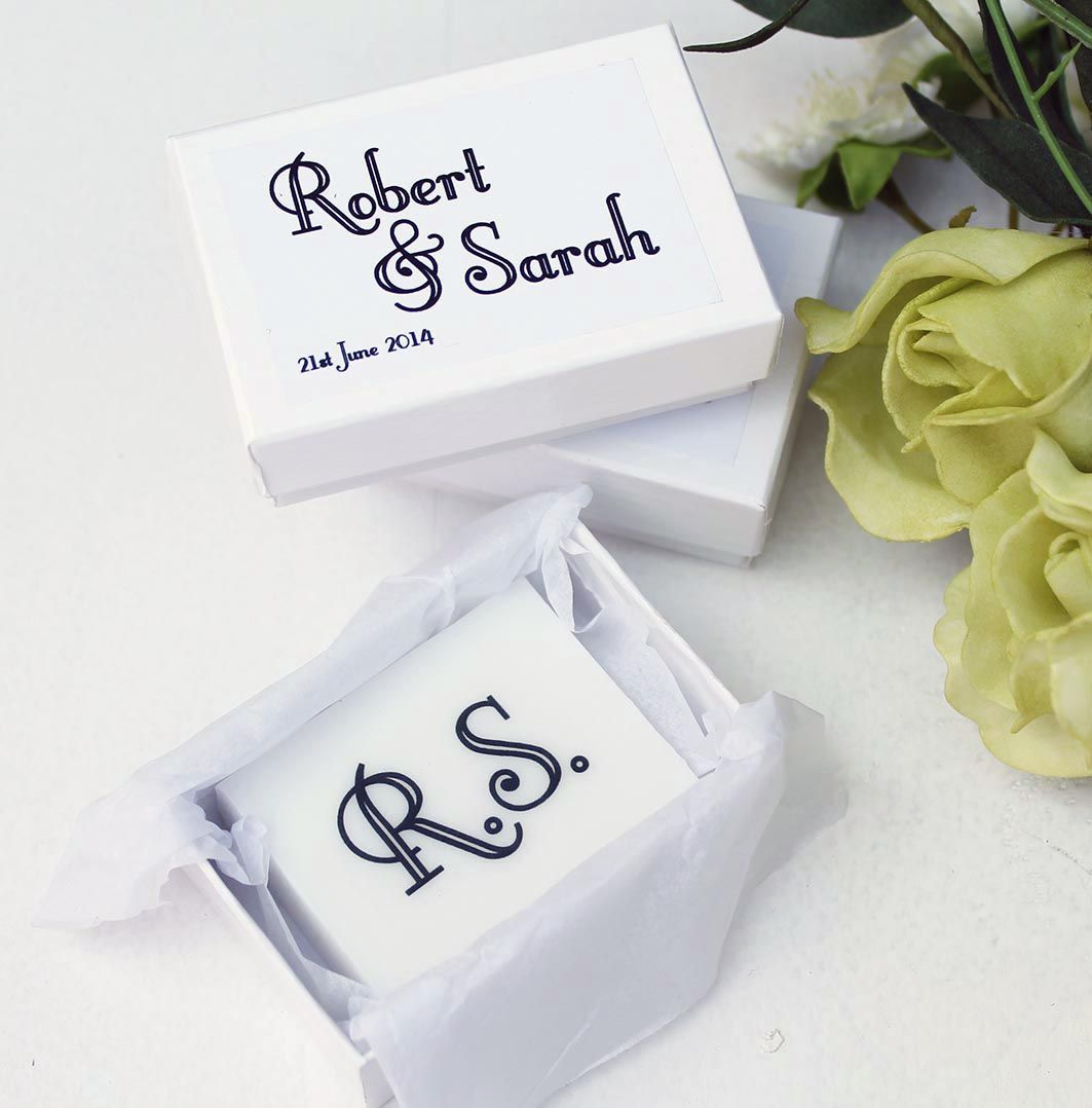 3.95 each These unusual personalised soaps make unique wedding ...
