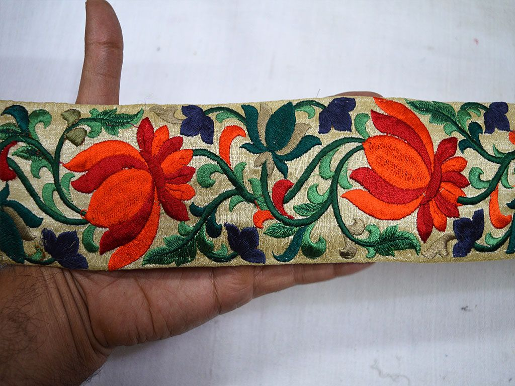 Indian Lace Trims Decorative Fabric Trim By The Yard Crafting