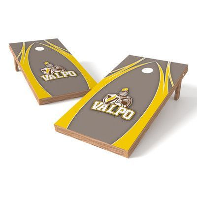 Tailgate Toss NCAA Shied Design Cornhole Game Set NCAA Team: Valparaiso Crusaders