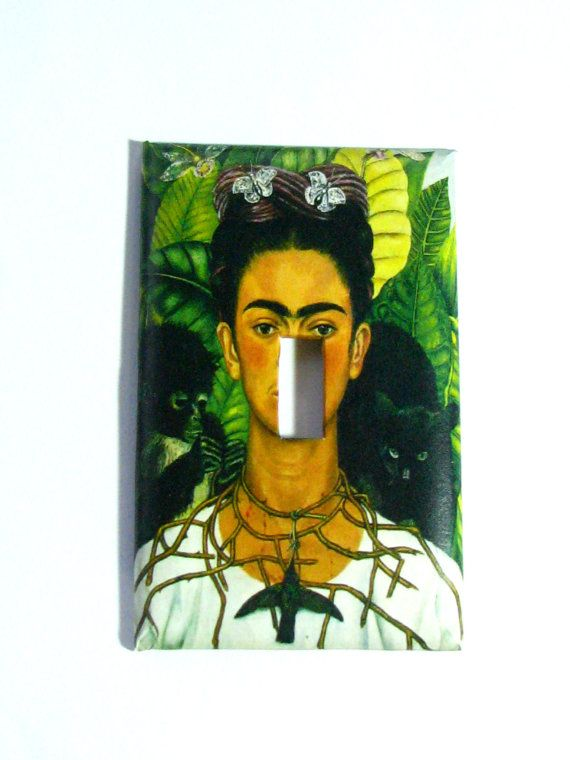 Light Switch Cover - Light Switch Plate Frida Kahlo Self Portrait with Thorns on Etsy, £4.95