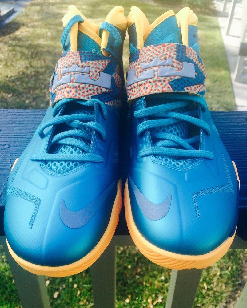 on sale 69fe3 89971 men shoes NIKE Lebron James ZOOM SOLDIER 7 Turbo green atomic mango size  9.5 new  Nike  BasketballShoes