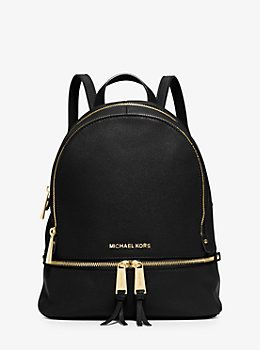 0a87f424f2010 Rhea Small Leather Backpack by Michael Kors