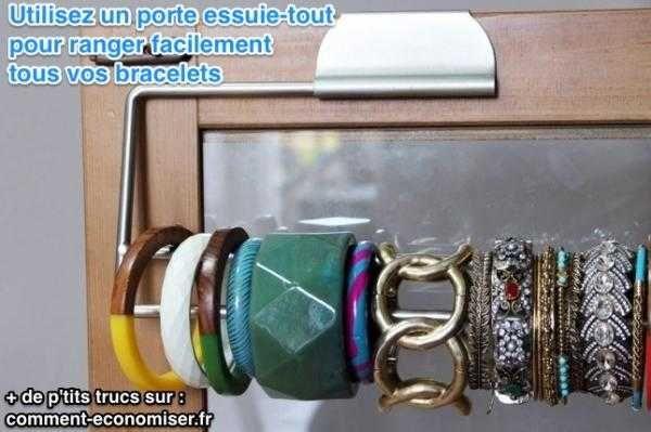 Pour Gagner Du Temps Le Matin Voici Une Astuce Originale Ranger Facilement Tous Vos Bracelets Au Même Endroit Il Suffit D Utiliser Un Porte