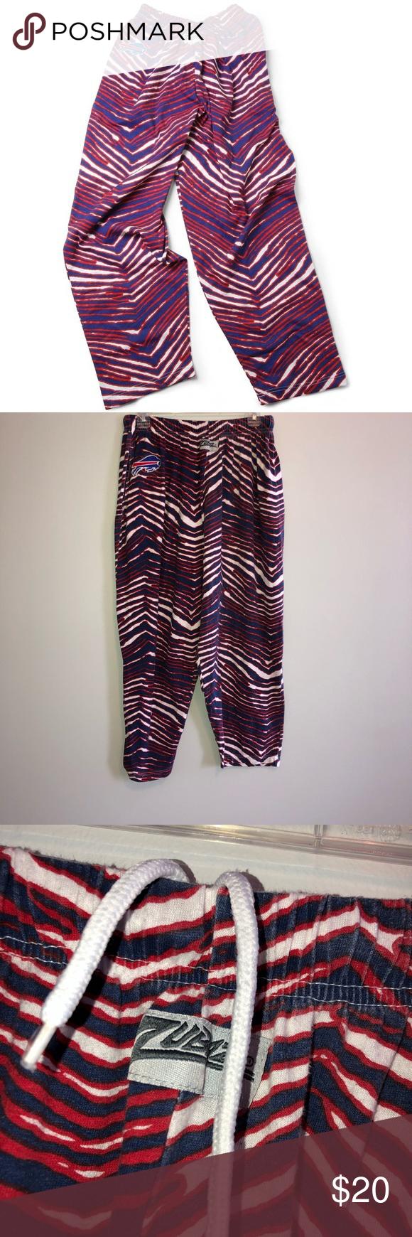 Buffalo Bills Zubaz Barely Worn Great Condition Size M L Nfl Pants Sweatpants Joggers Clothes Design Fashion Design Pants