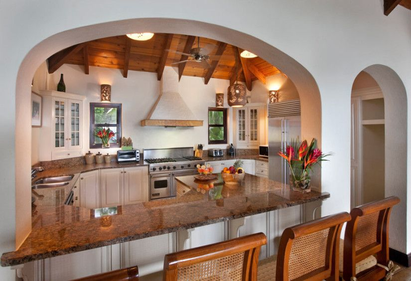 Luxury Sol Y Sombra Villa In The Caribbean Kitchen Haiti Cherie