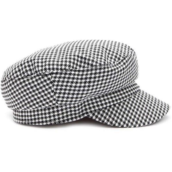 c4aa04e99b9 Forever21 Houndstooth Cabby Hat ( 13) ❤ liked on Polyvore featuring  accessories