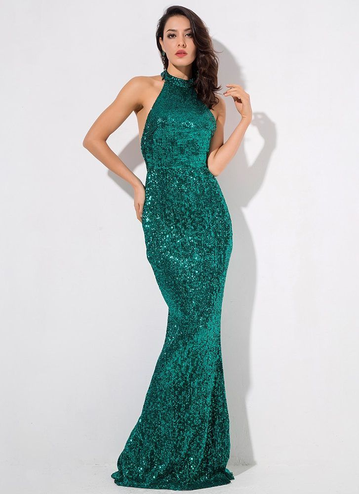 Emerald green sequin dress formal prom dress with images