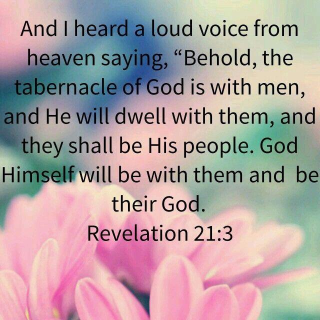 Revelation 21:3 | Revelation 21, The tabernacle, Scripture