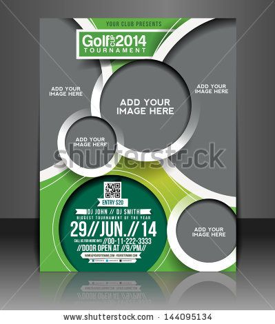 Vector Golf Tournament Brochure, Flyer, Magazine Cover \ Poster - golf tournament brochure