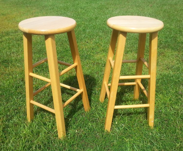 How To Dress Up Ordinary Kitchen Stools Bar Stool Makeover