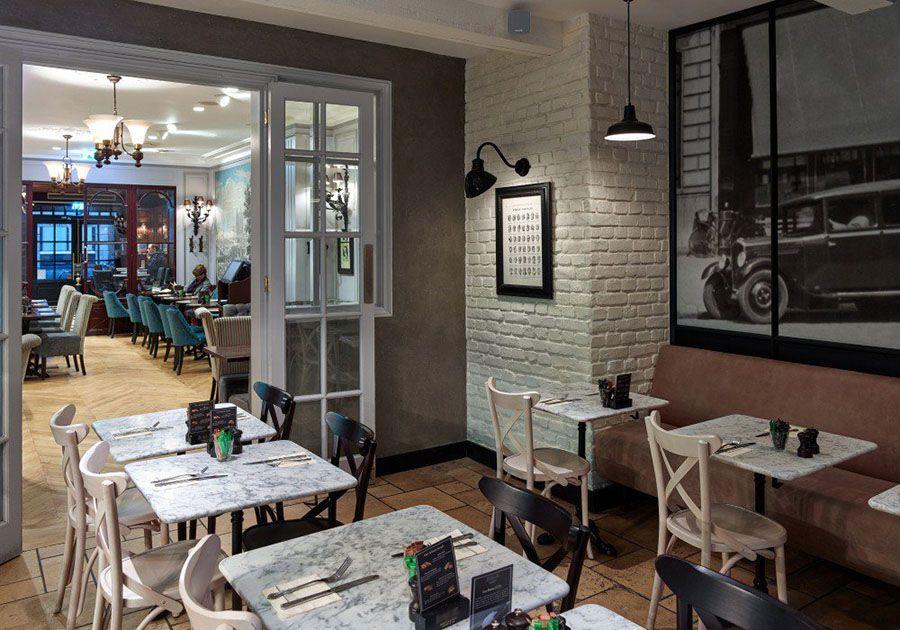 restaurant backstein optik weiss ladrillo loft blanco | steinwand, Hause deko