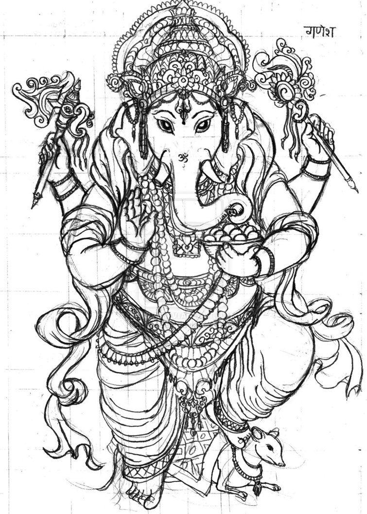 Mandala Ganesha 2 Dios de la proteccin y de la buena suerte
