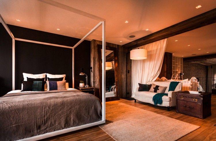 chambre à coucher moderne éléments en bois massif #modern #bedroom