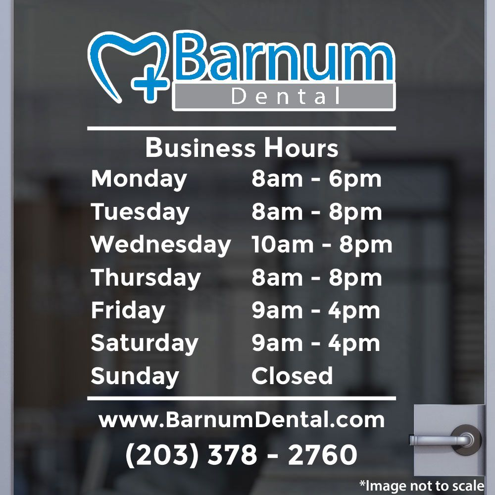 Custom Business Hours | Stickertitans.com | Custom Business / Office / Shop  / Salon