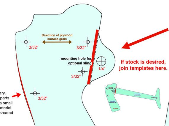 graphic about Printable Gun Stock Templates named Rubber Band Gun Courses / Carbine and Submachine Gun Printable