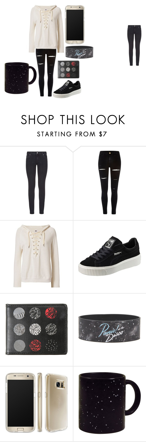 """OOTD"" by fluffypunkk on Polyvore featuring Paige Denim, River Island, NSF, Puma and Speck"