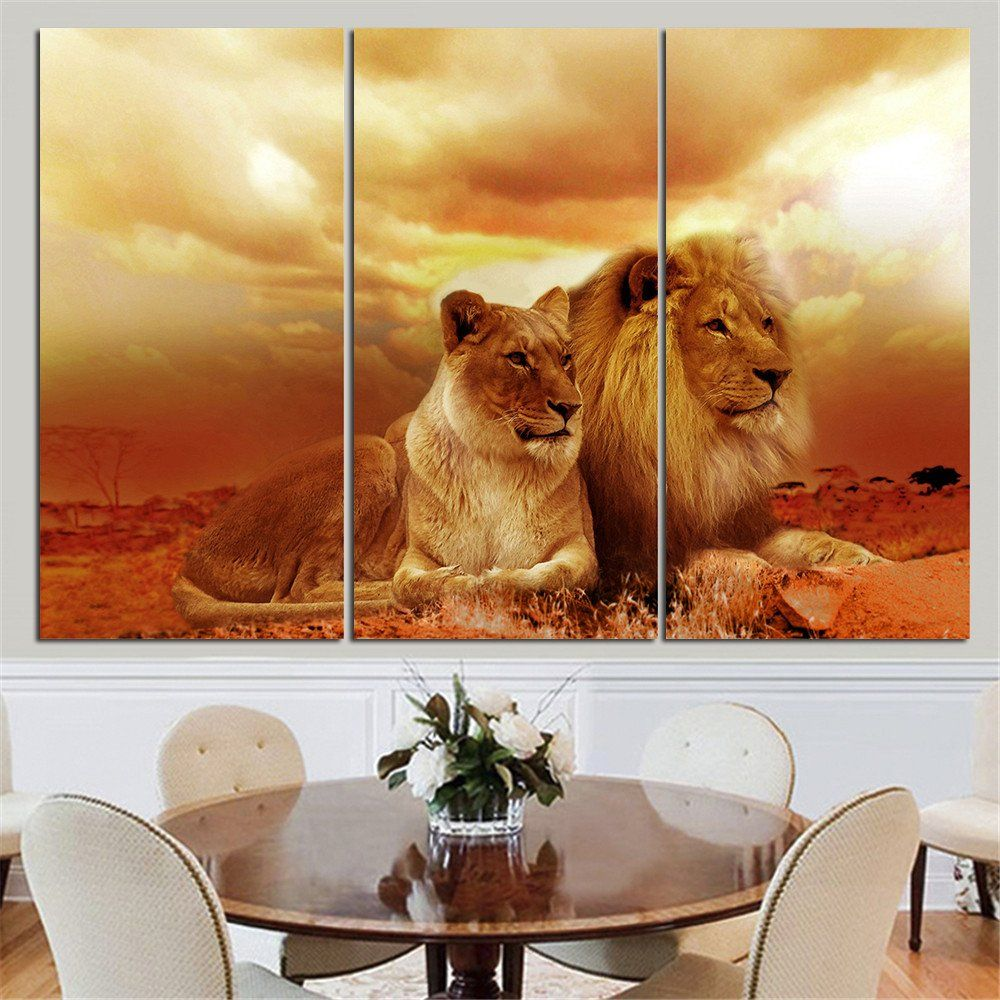No Frame Animal Oil Painting Lion King Posters Wall Art And Prints Home Decor Mordern Canvas