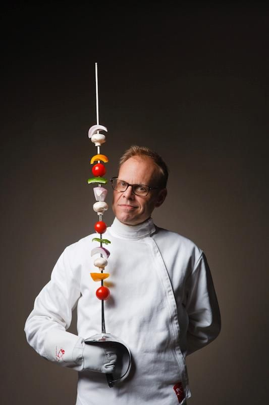 Alton Brown. find fencing inspirations at Monica Hahn photography and FenceOgraphy