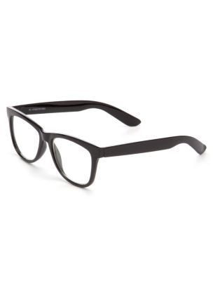 1ba92f48dc0c Black Thick Rimmed Reading Glasses